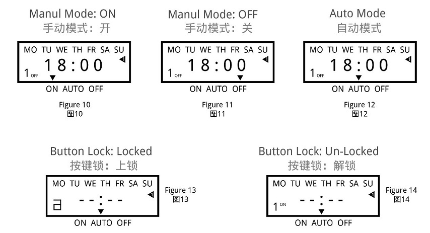 Timing Setting image How to set the mode of timer switches